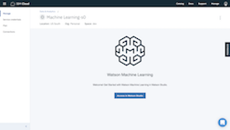 IBM Watson Machine Learning Dashboard